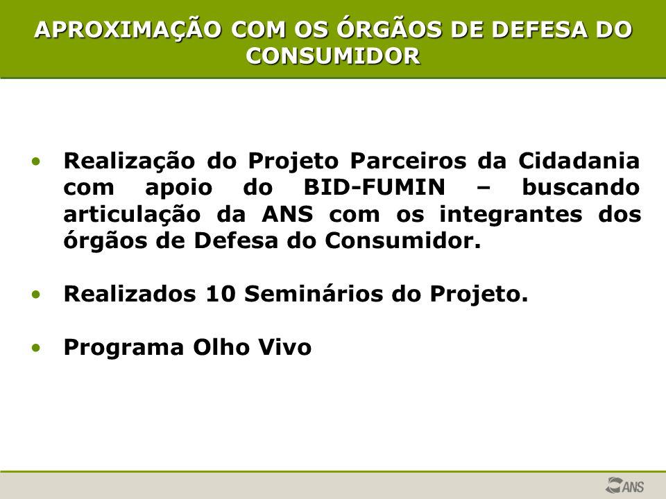 APROXIMAÇÃO COM OS ÓRGÃOS DE DEFESA DO CONSUMIDOR