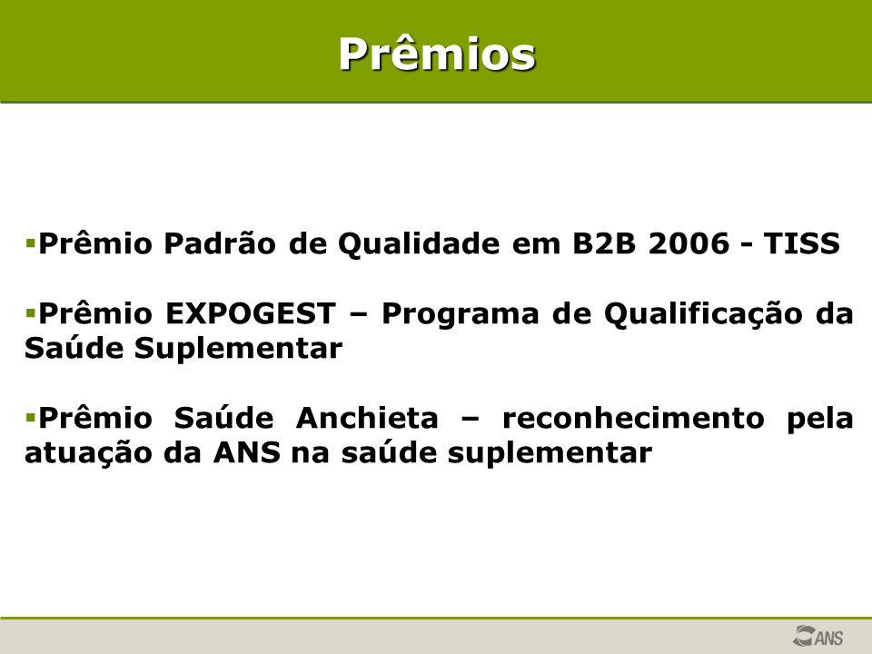 Prêmios Prêmio Padrão de Qualidade em B2B 2006 - TISS