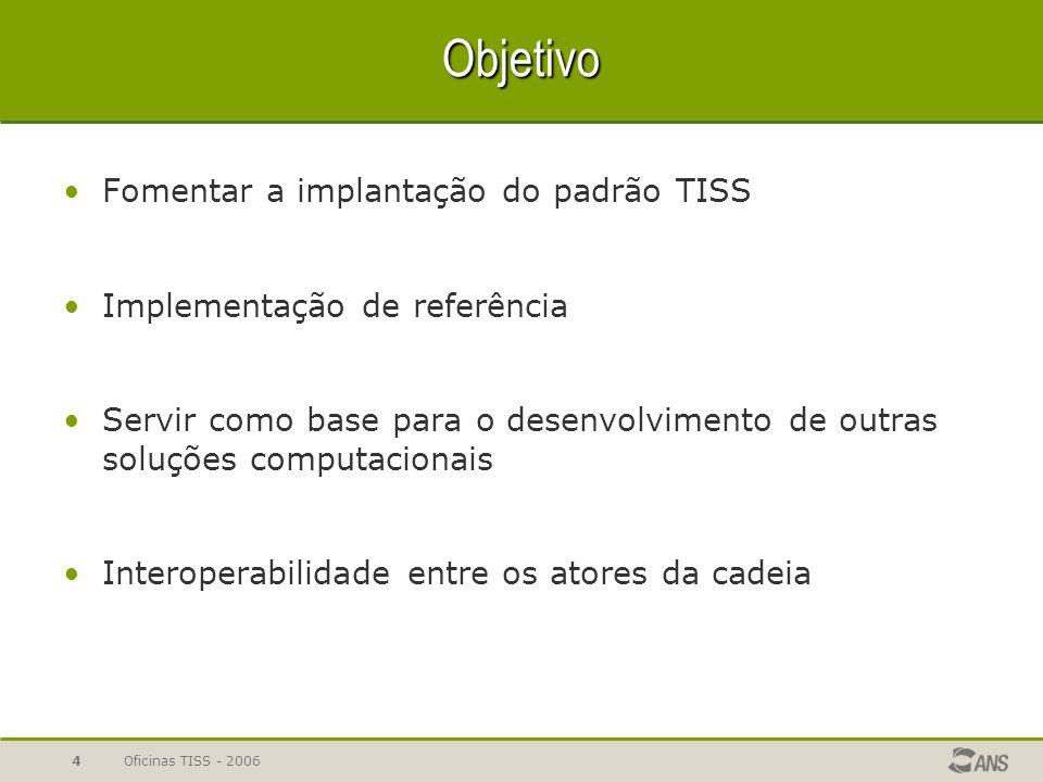 Objetivo Fomentar a implantação do padrão TISS