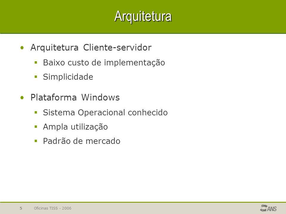 Arquitetura Arquitetura Cliente-servidor Plataforma Windows