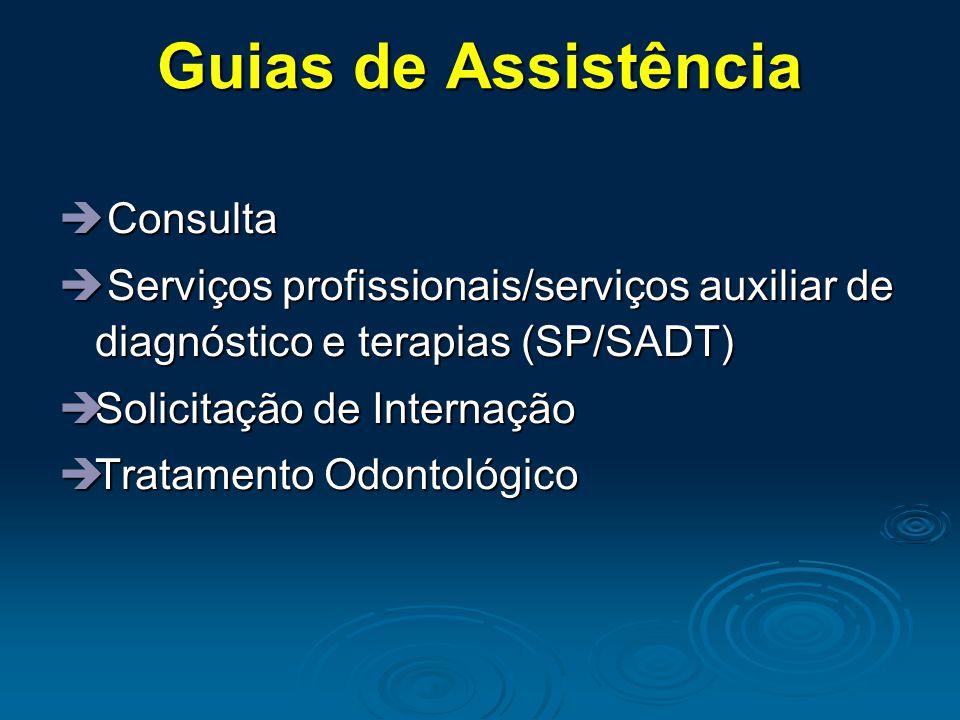 Guias de Assistência Consulta
