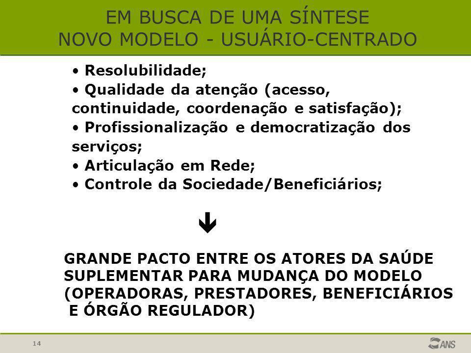 EM BUSCA DE UMA SÍNTESE NOVO MODELO - USUÁRIO-CENTRADO