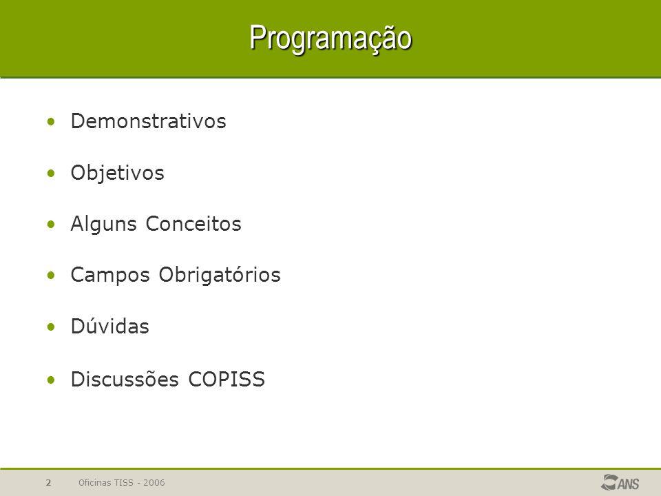 Programação Demonstrativos Objetivos Alguns Conceitos