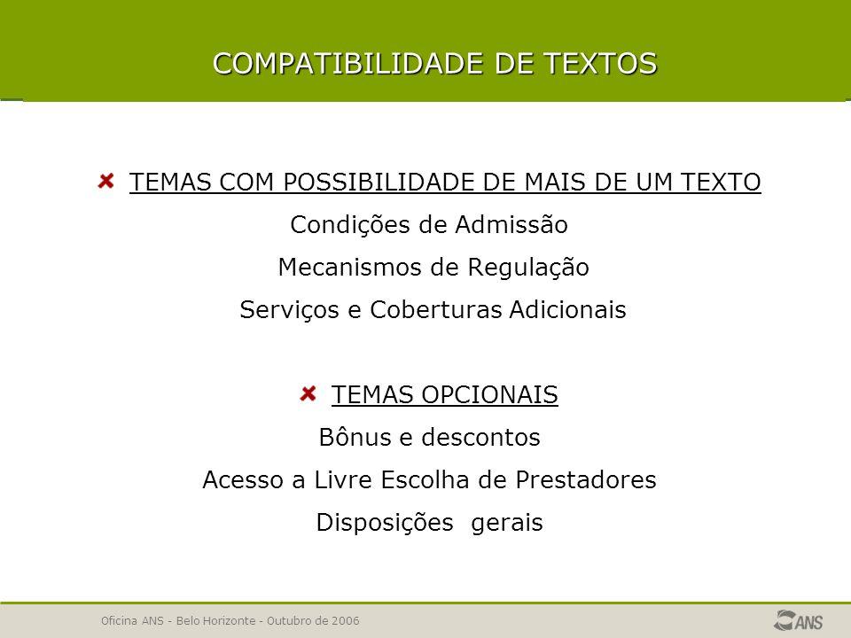 COMPATIBILIDADE DE TEXTOS