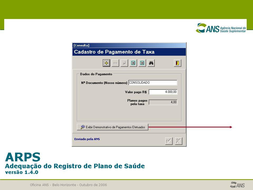 Oficina ANS - Belo Horizonte - Outubro de 2006