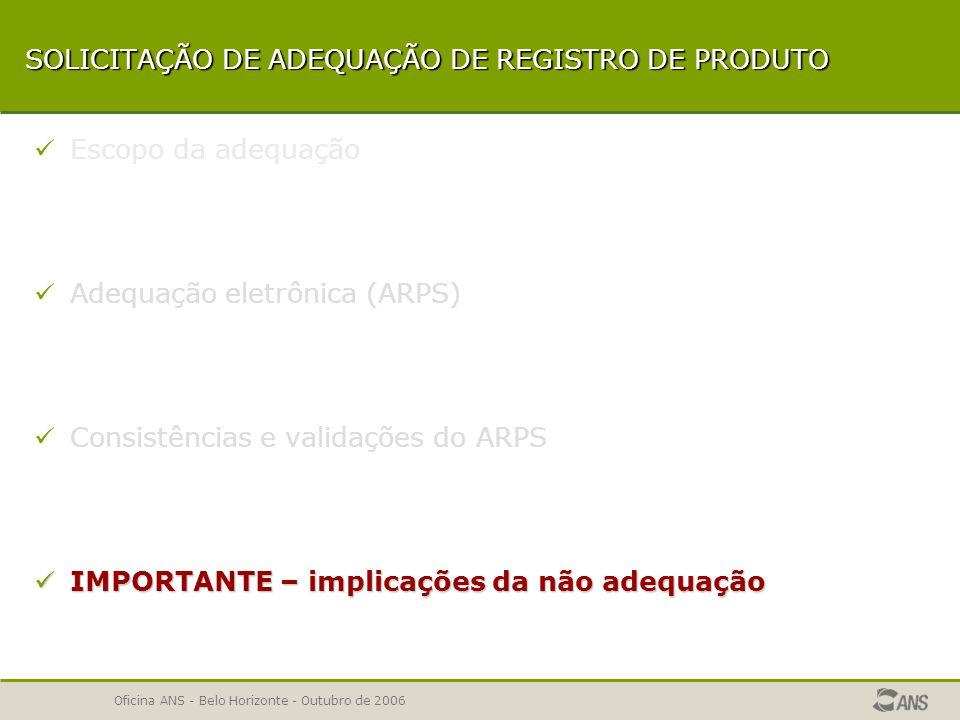 SOLICITAÇÃO DE ADEQUAÇÃO DE REGISTRO DE PRODUTO