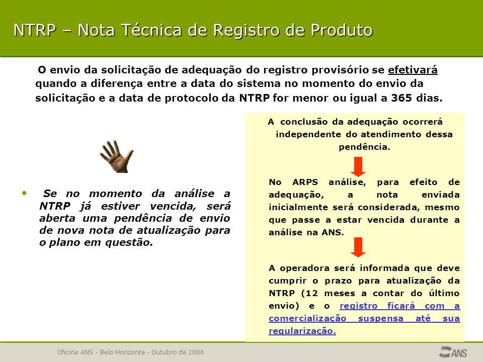 NTRP – Nota Técnica de Registro de Produto