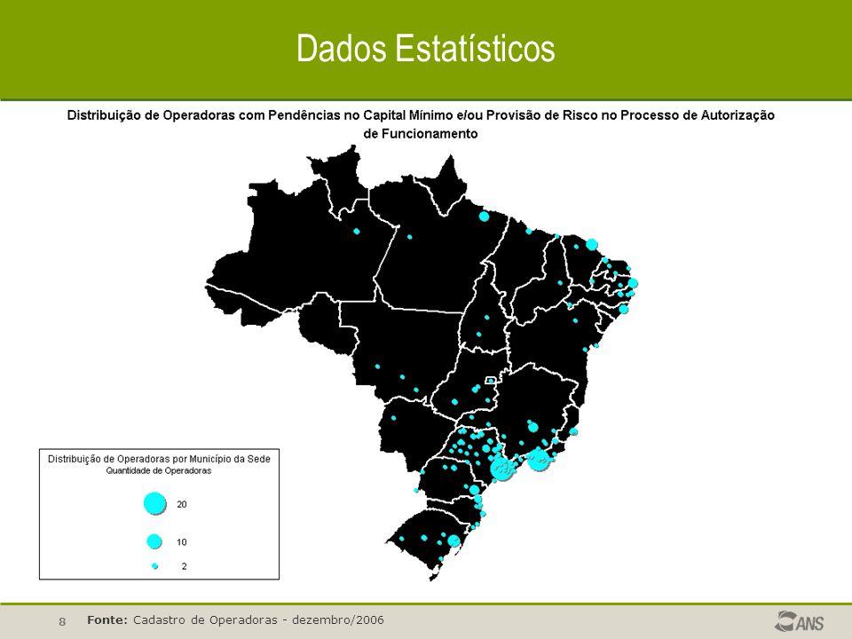 Dados Estatísticos Fonte: Cadastro de Operadoras - dezembro/2006