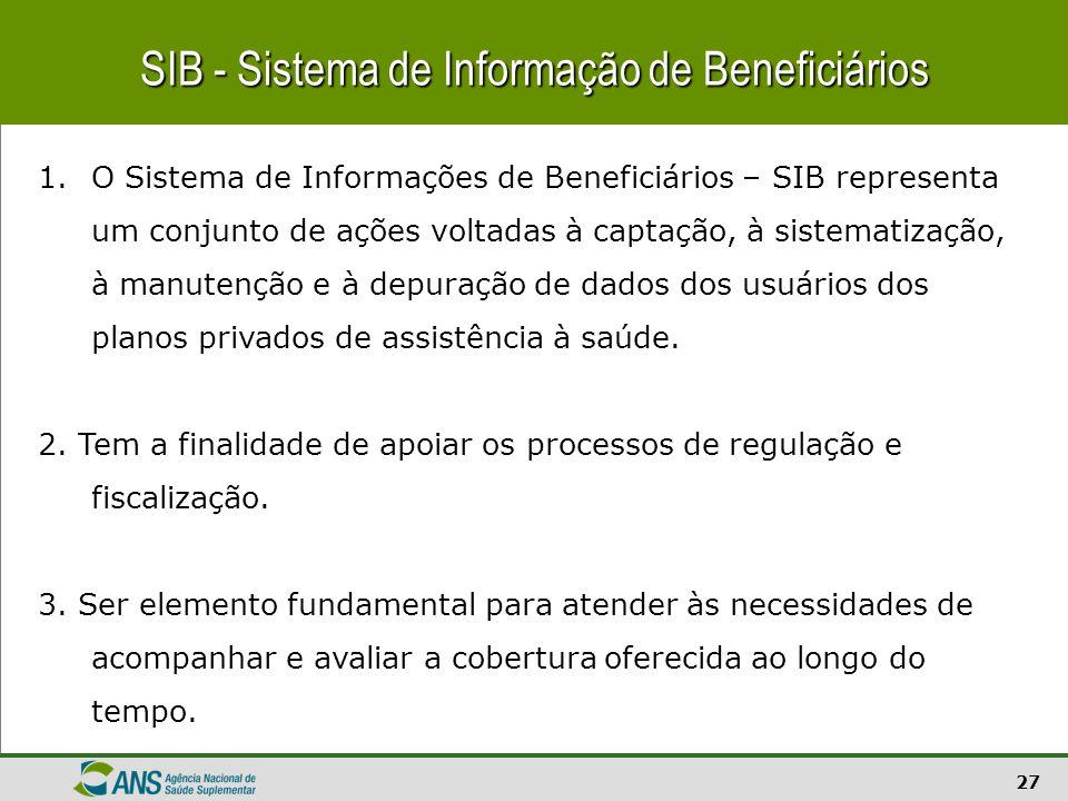 SIB - Sistema de Informação de Beneficiários