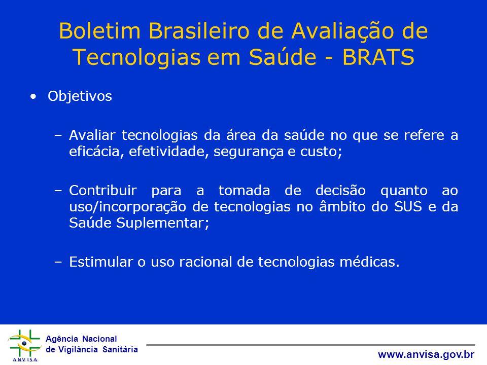 Boletim Brasileiro de Avaliação de Tecnologias em Saúde - BRATS