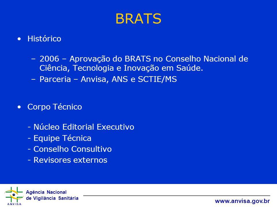 BRATS Histórico. 2006 – Aprovação do BRATS no Conselho Nacional de Ciência, Tecnologia e Inovação em Saúde.