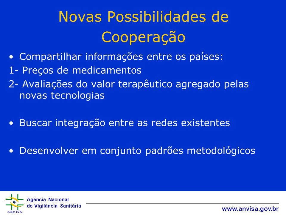Novas Possibilidades de Cooperação