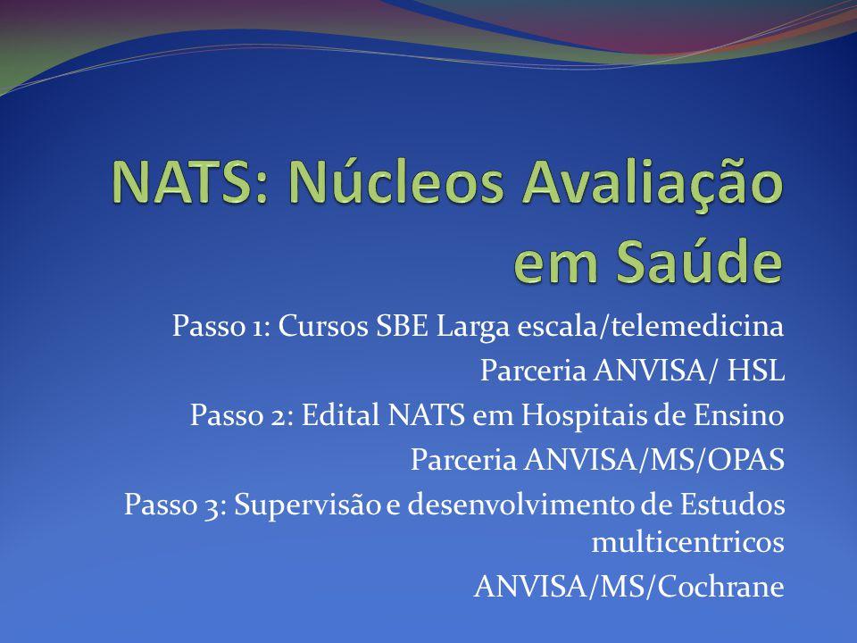 NATS: Núcleos Avaliação em Saúde