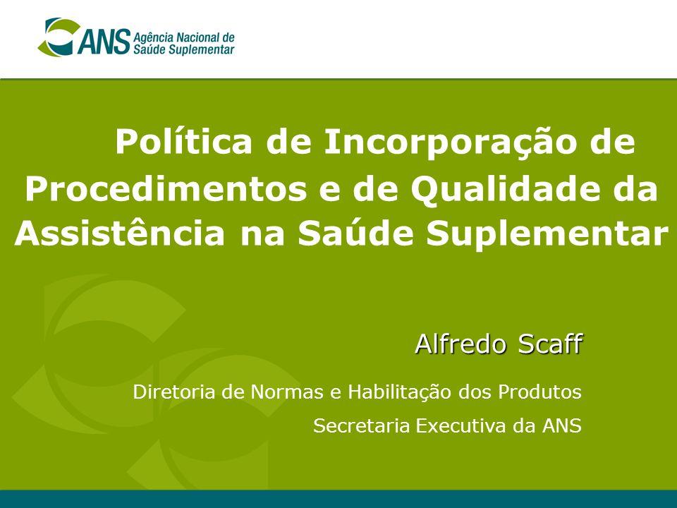 Política de Incorporação de Procedimentos e de Qualidade da Assistência na Saúde Suplementar
