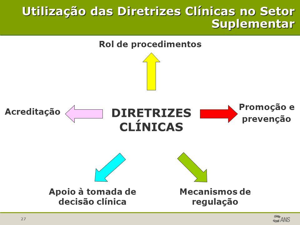 Apoio à tomada de decisão clínica Mecanismos de regulação