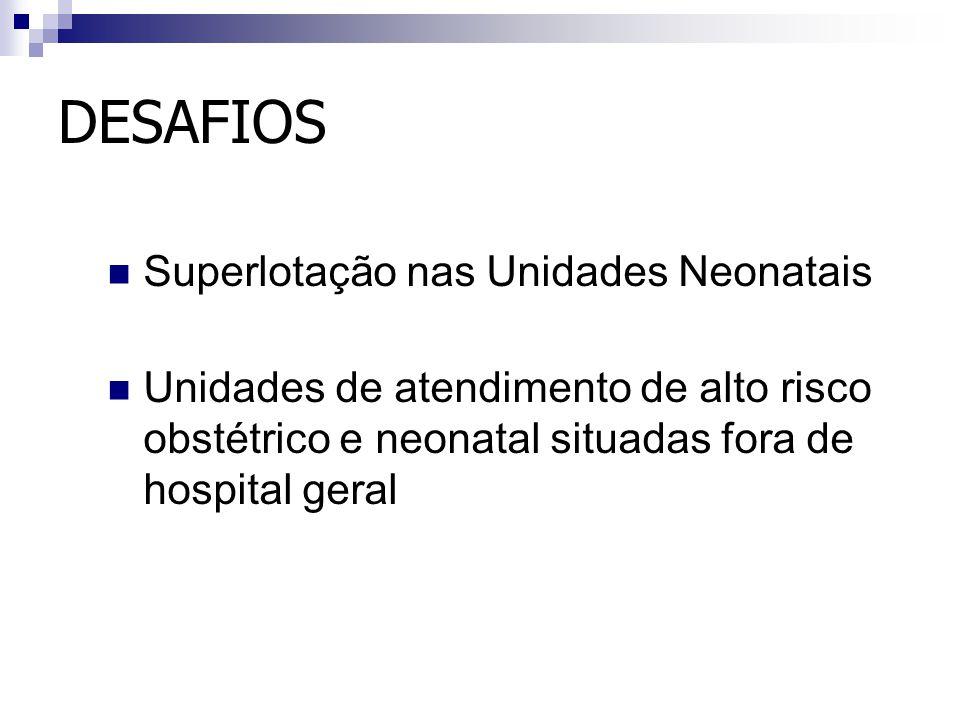 DESAFIOS Superlotação nas Unidades Neonatais
