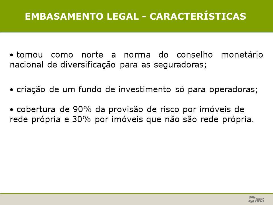 EMBASAMENTO LEGAL - CARACTERÍSTICAS