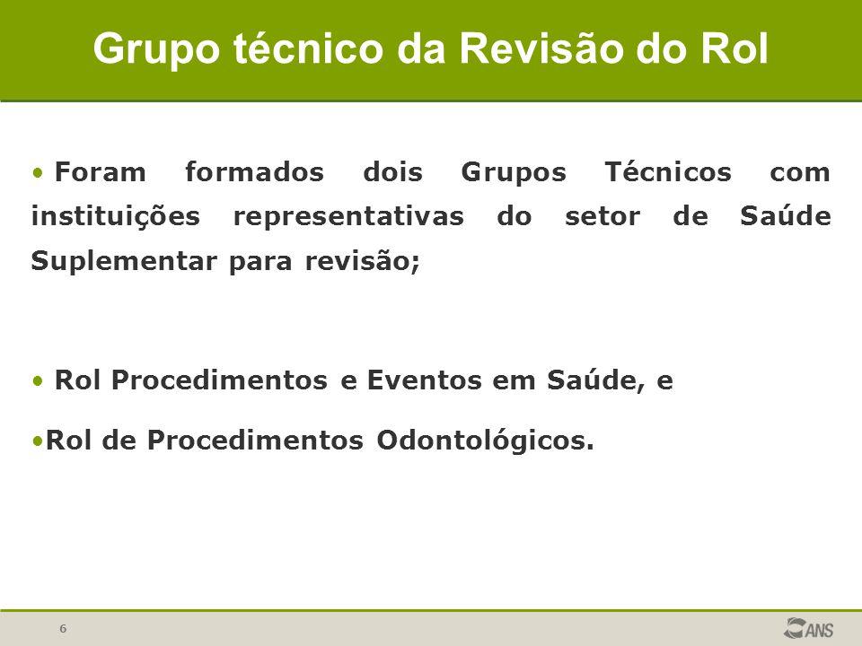 Grupo técnico da Revisão do Rol