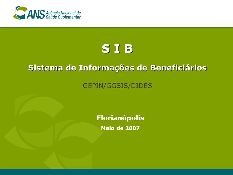 Sistema de Informações de Beneficiários