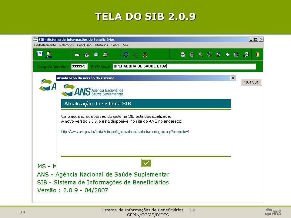 TELA DO SIB 2.0.9