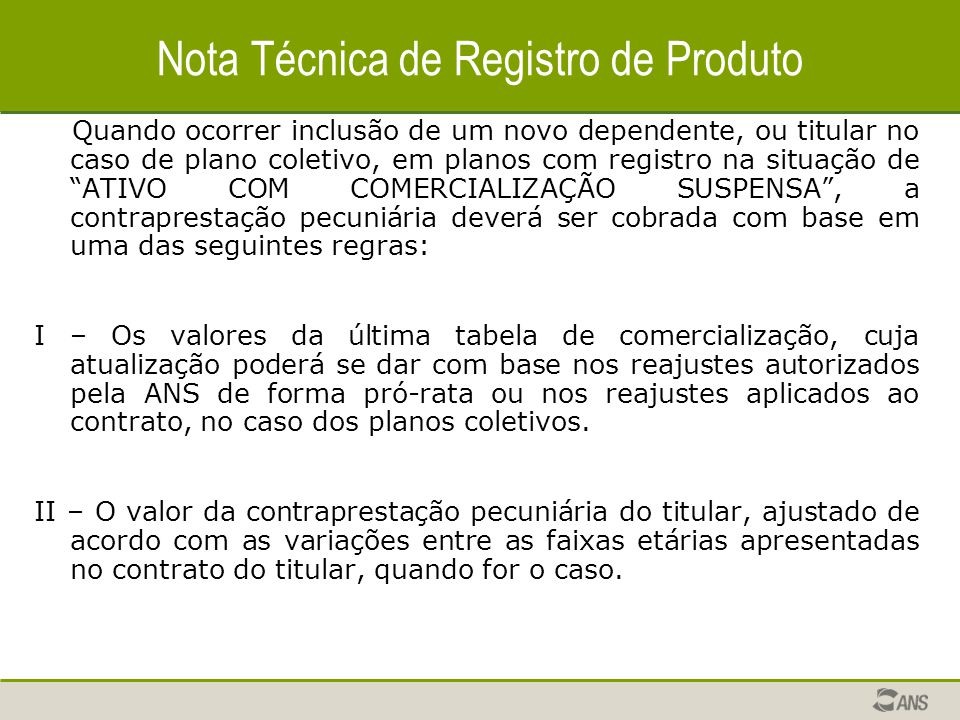 Nota Técnica de Registro de Produto