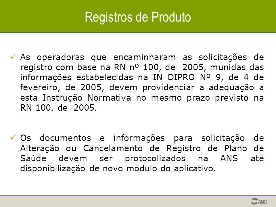 Registros de Produto