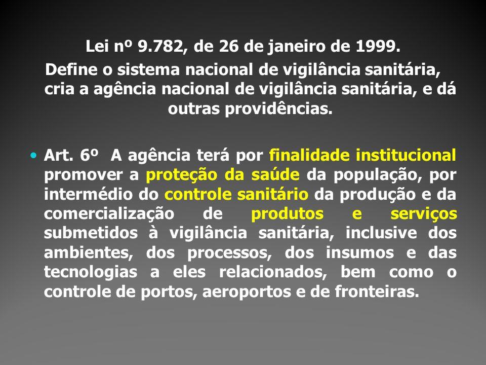 Lei nº 9.782, de 26 de janeiro de 1999.