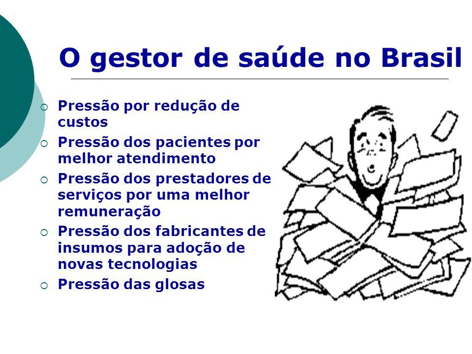O gestor de saúde no Brasil