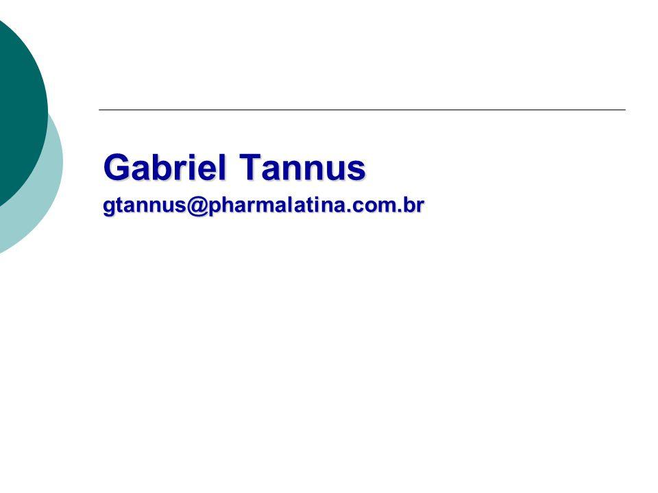 Gabriel Tannus gtannus@pharmalatina.com.br