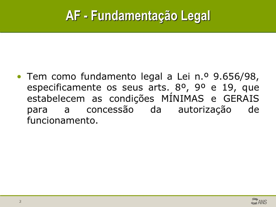 AF - Fundamentação Legal