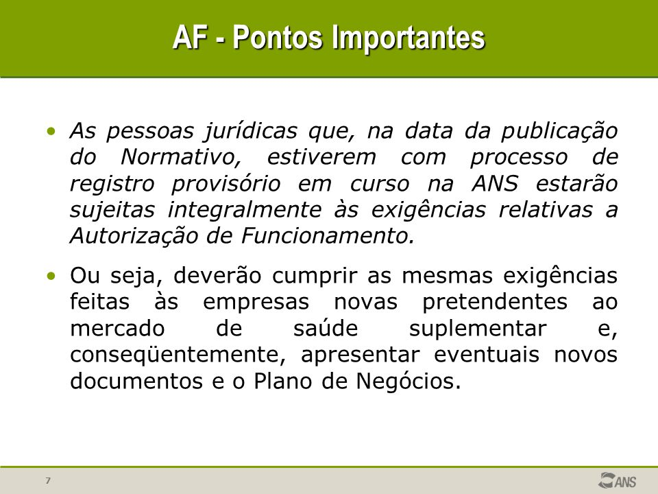 AF - Pontos Importantes