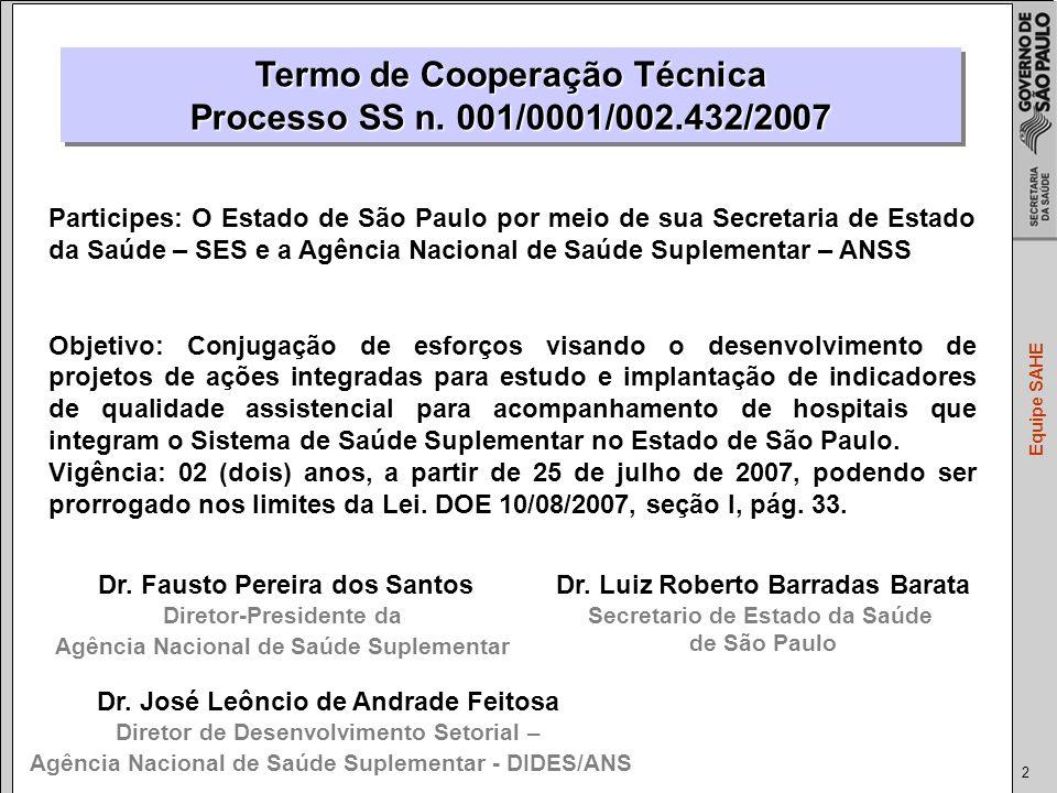Termo de Cooperação Técnica Processo SS n. 001/0001/002.432/2007