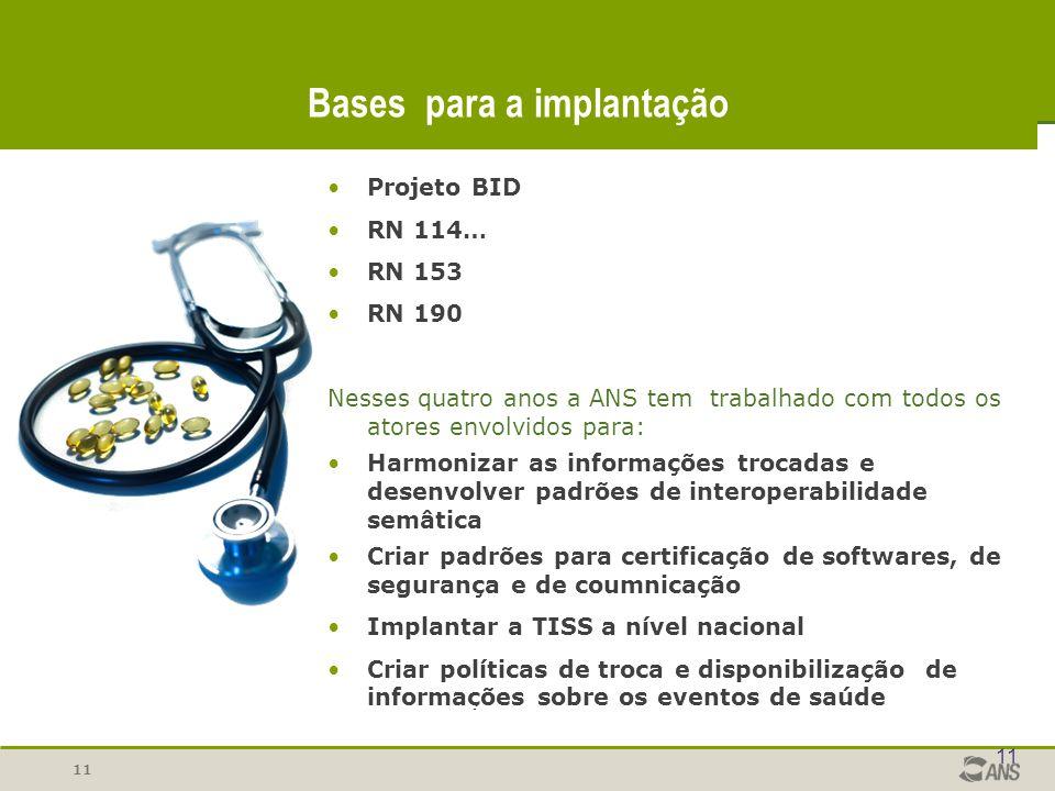 Bases para a implantação