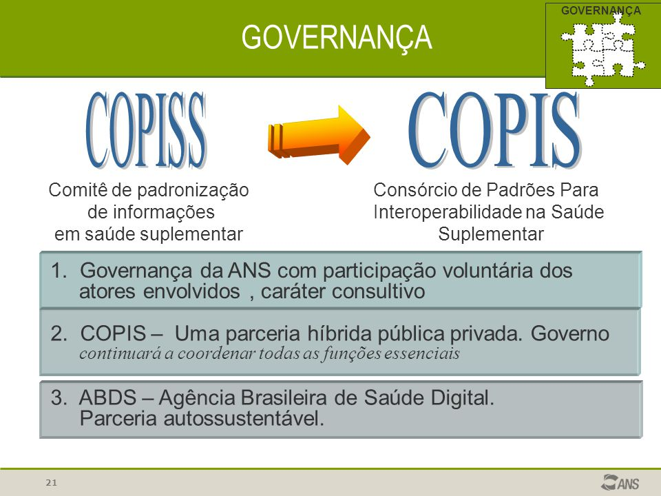 GOVERNANÇA COPISS COPIS