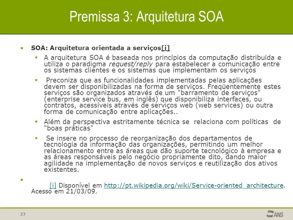 Premissa 3: Arquitetura SOA