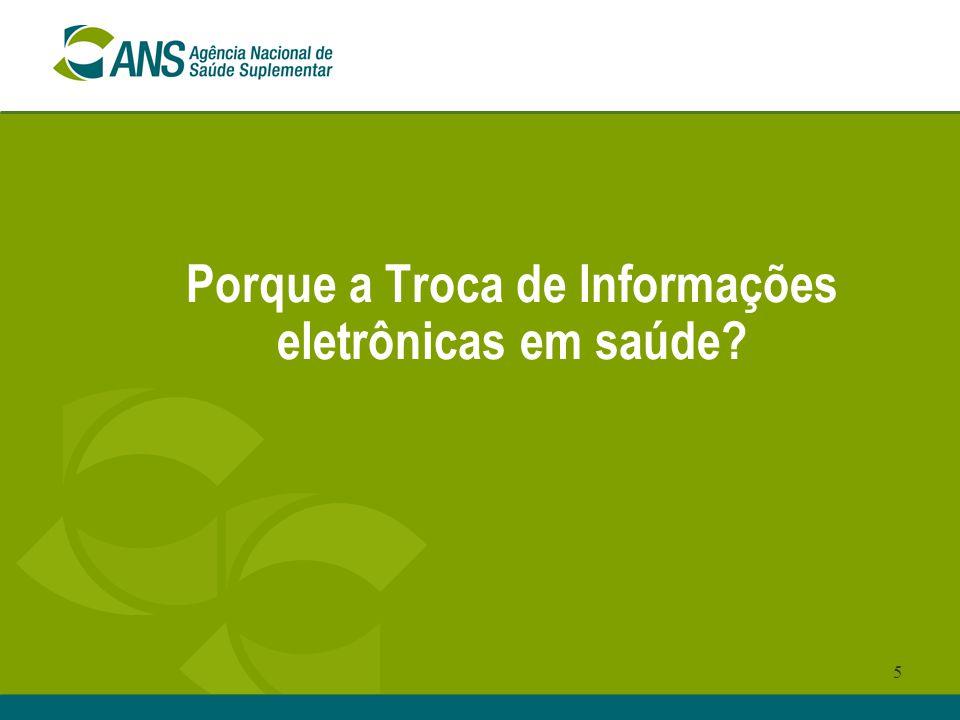 Porque a Troca de Informações eletrônicas em saúde