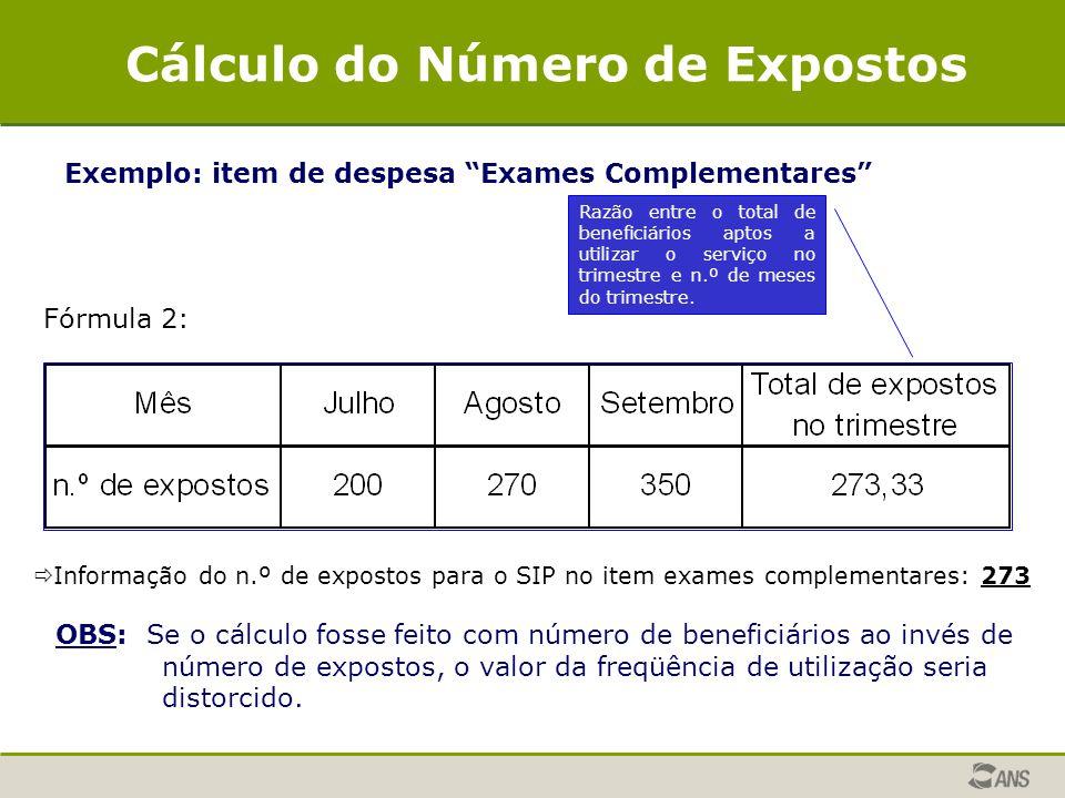 Cálculo do Número de Expostos