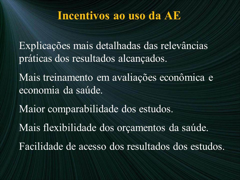 Incentivos ao uso da AE