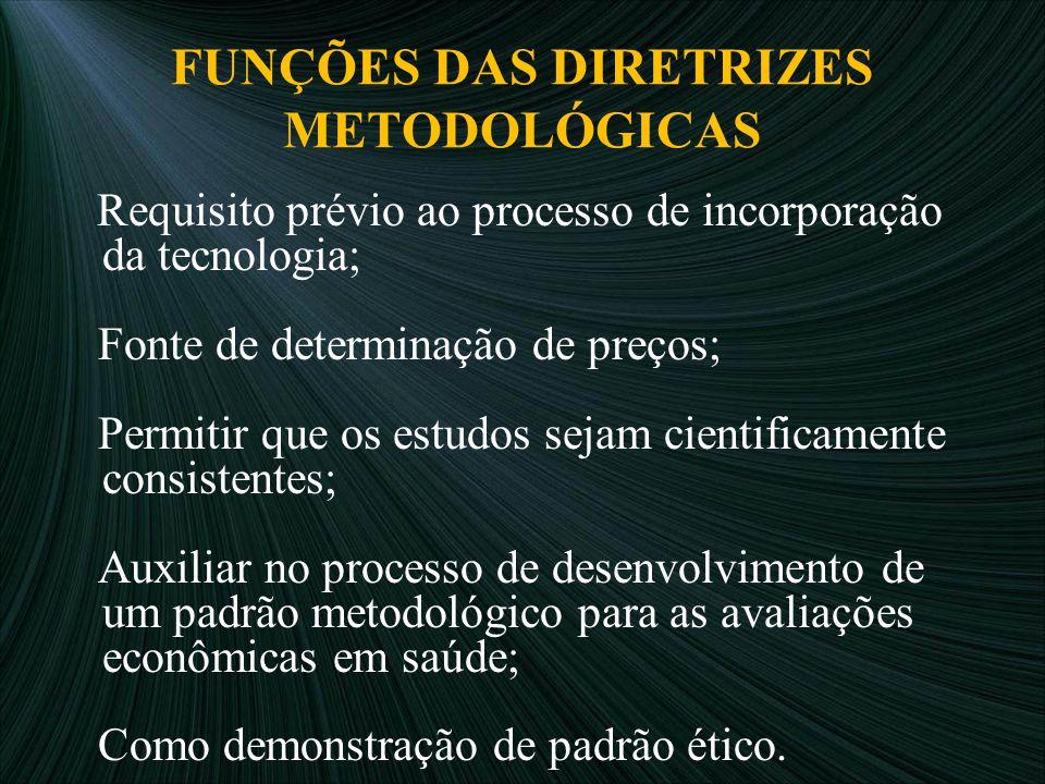 FUNÇÕES DAS DIRETRIZES METODOLÓGICAS