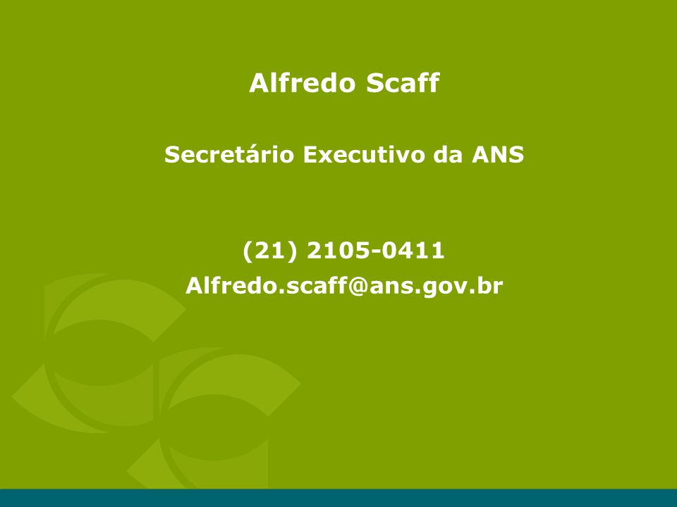 Secretário Executivo da ANS