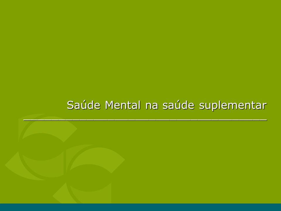 Saúde Mental na saúde suplementar