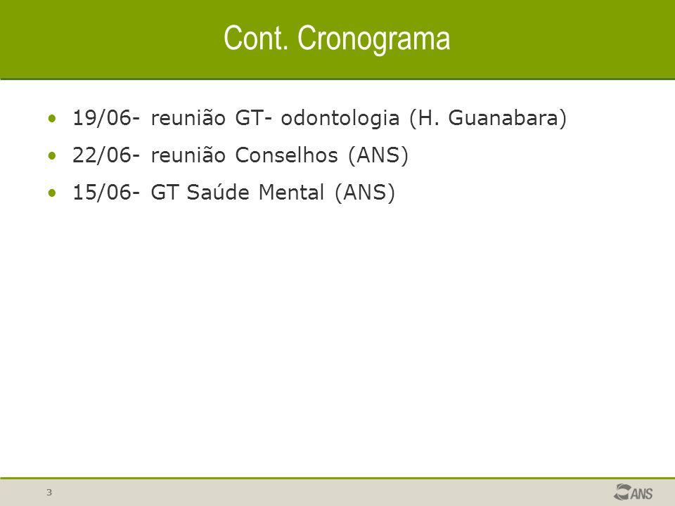 Cont. Cronograma 19/06- reunião GT- odontologia (H. Guanabara)