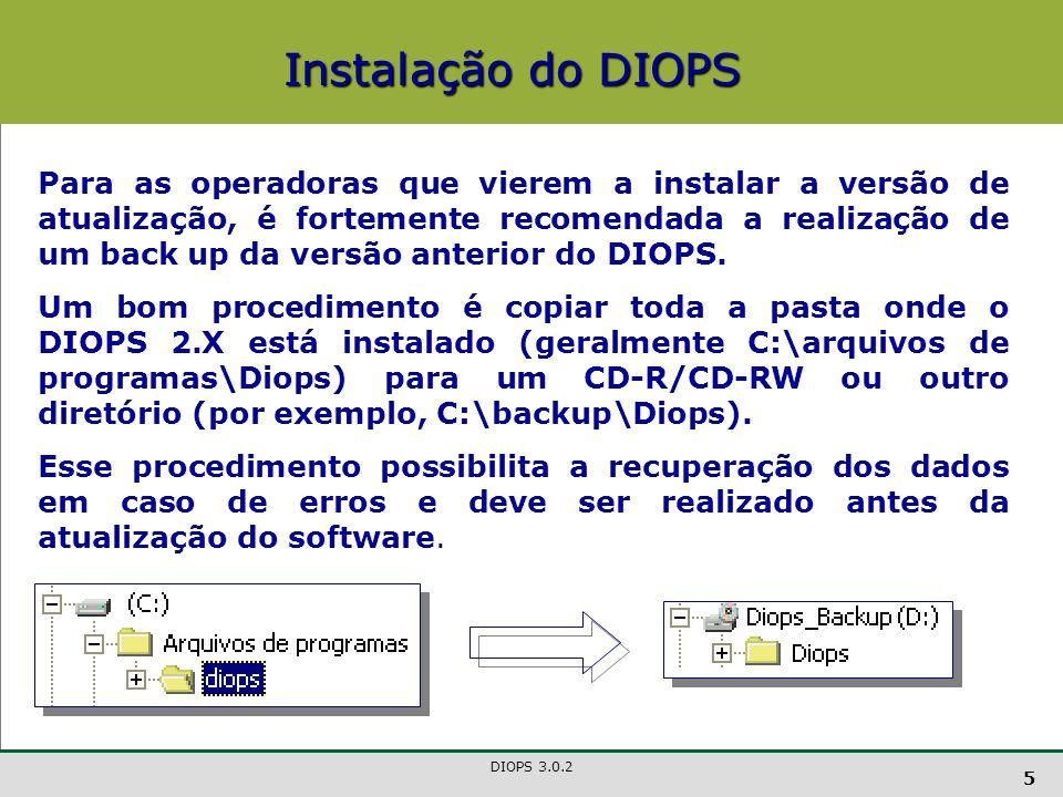 Instalação do DIOPS