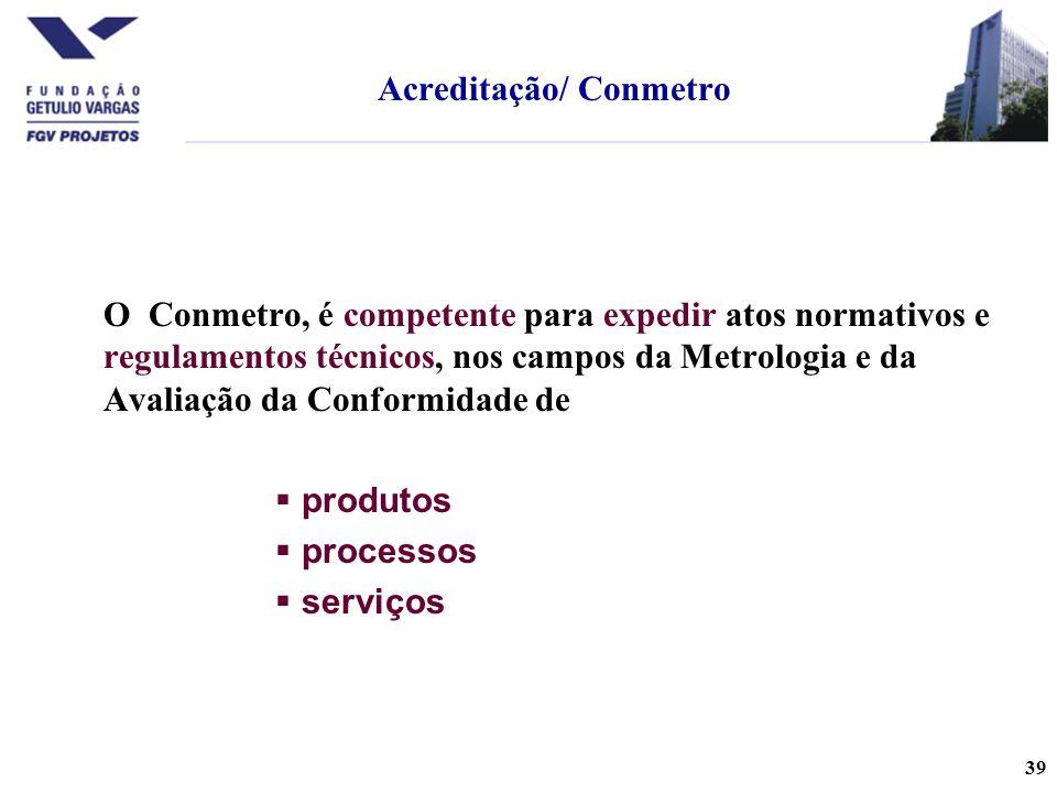 Acreditação/ Conmetro