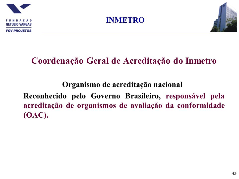 Coordenação Geral de Acreditação do Inmetro