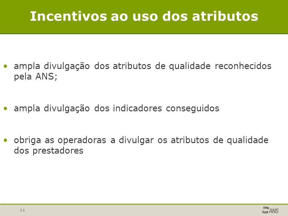 Incentivos ao uso dos atributos