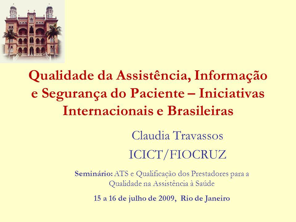 Claudia Travassos ICICT/FIOCRUZ