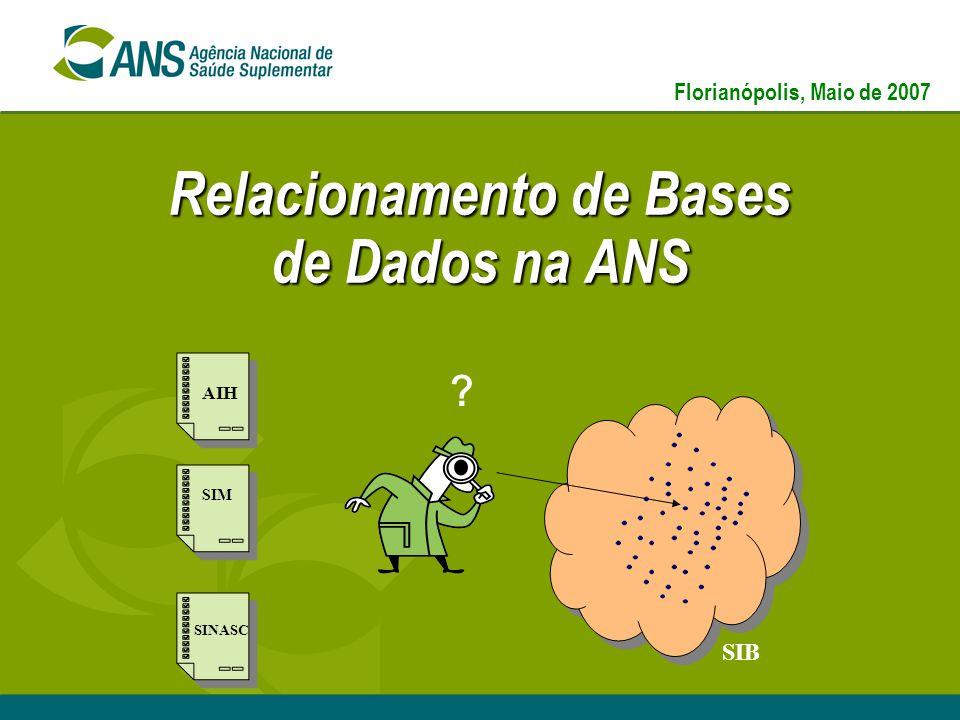 Relacionamento de Bases de Dados na ANS