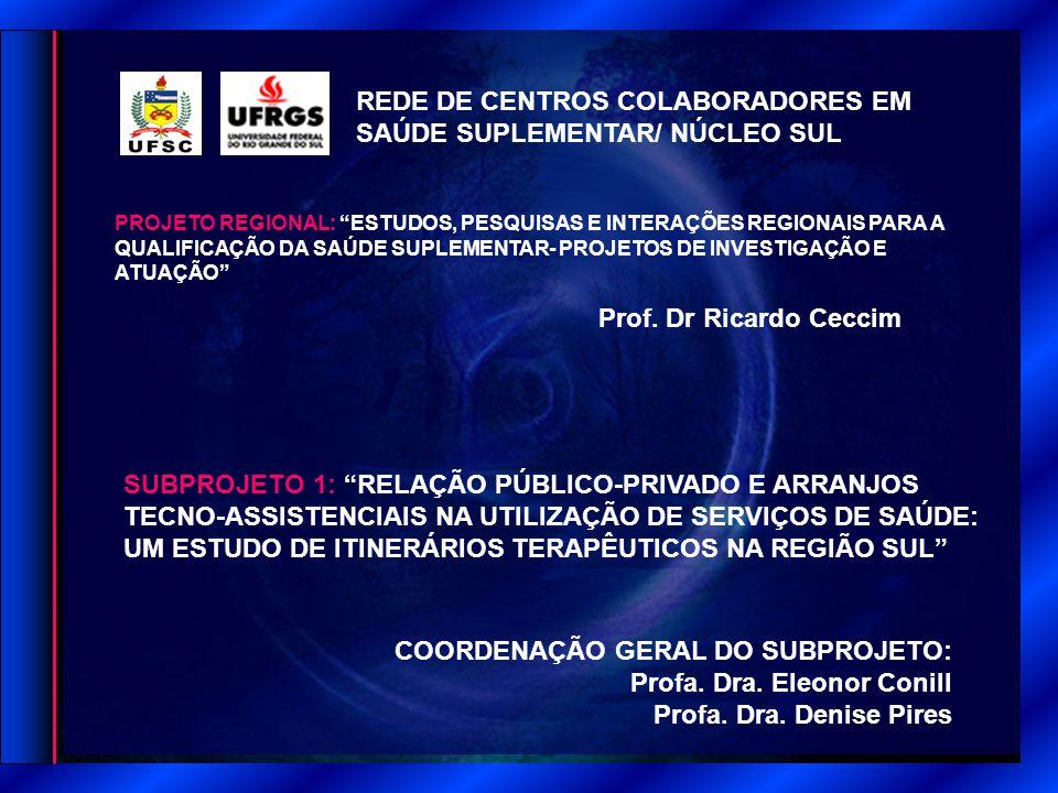 REDE DE CENTROS COLABORADORES EM SAÚDE SUPLEMENTAR/ NÚCLEO SUL