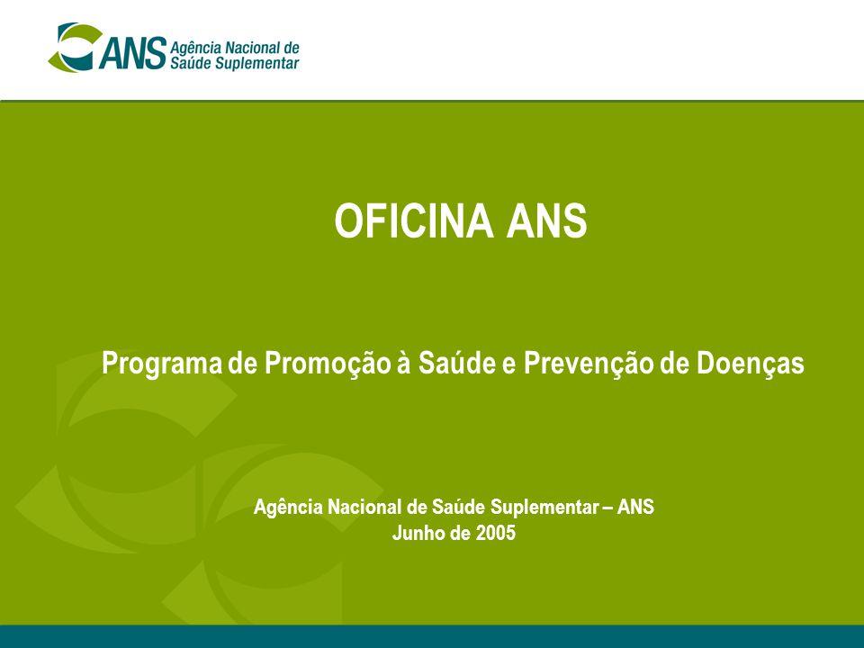 OFICINA ANS Programa de Promoção à Saúde e Prevenção de Doenças